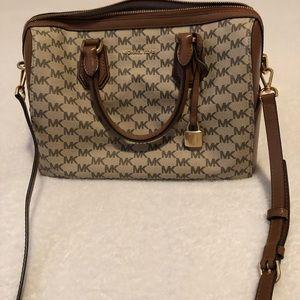 Michael Kors Hayes Signature Duffle Shoulder Bag